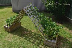 I am IN LOVE with this idea! I even have enough room in my backyard for it! crafty-corner