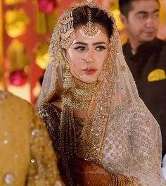 Traditional and beautiful bridal dresses for this wedding season Beautiful Bridal Dresses, Asian Bridal Dresses, Pakistani Wedding Outfits, Indian Bridal Outfits, Pakistani Wedding Dresses, Pakistani Bridal Jewelry, Bridal Jewellery, Fancy Jewellery, Nikkah Dress