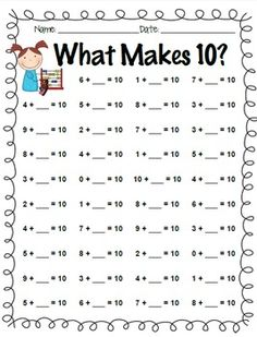 math worksheet : first grade math first grade and worksheets on pinterest : Addition Worksheets Sums To 10