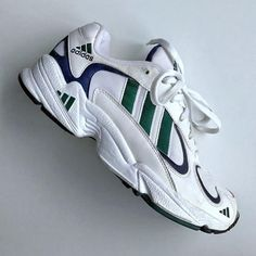 1997 E adidas Yung 1 Falcon Moda Sneakers, Sneakers Mode, Sneakers Fashion, Adidas Sneakers, Fashion Outfits, Dad Shoes, Me Too Shoes, Rothys Shoes, Shoes Style