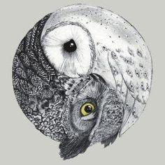 Yin Yang Owls by RomanaC by jannie