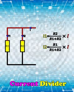 Potential and current divider theory Electronics Mini Projects, Electronics Gadgets, Electrical Installation, Electrical Wiring, Electronic Engineering, Electronic Art, Cable Storage, Astronomy Science, Ham Radio Antenna