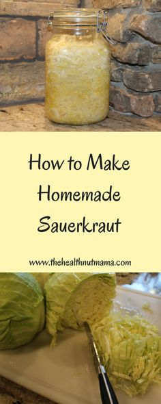 How to make Homemade Sauerkraut – www.thehealthnutm… How to make Homemade Sauerkraut – www. Homemade Sauerkraut, Sauerkraut Recipes, Recipe For Making Sauerkraut, Canning Sauerkraut, Paleo Sauces, Vegetarian Recipes, Healthy Recipes, Alkaline Recipes, Healthy Food