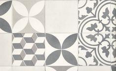 Sol vinyle TEXAS NEW, carreau ciment gris et noir, rouleau 4 m - Sol Vinyle - Collection Sol - Saint Maclou