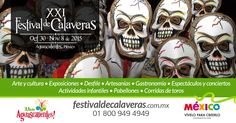 #FestivalDeCalaveras en #Aguascalientes. Del 30 de octubre al 8 de Noviembre en la Isla San Marcos.