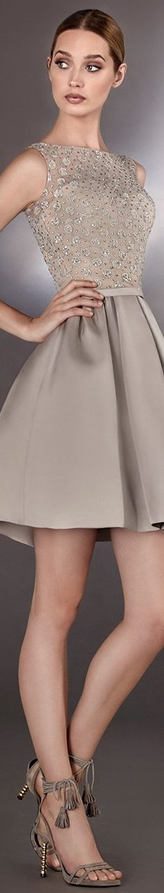 @roressclothes clothing ideas #women fashion gray dress Hannibal Laguna Atelier Fiesta 2017