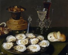 Oysters - Beert, Osias (Flemish, 1580 - Fine Art Reproductions, Oil Painting Reproductions - Art for Sale at Bohemain Fine Art Dutch Still Life, Still Life 2, Be Still, Baroque Painting, Canvas Online, Food Painting, Oil Painting Reproductions, Canvas Art Prints, Painting Canvas