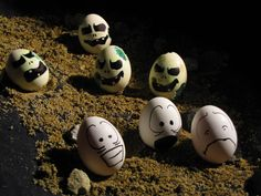 They Have Risen! Zombie Easter Eggs, From Beyond The Grave!