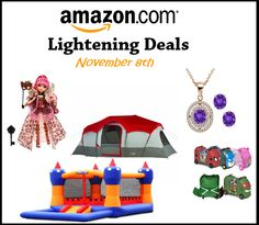 Amazon Lightning Deals All Day on 11/08
