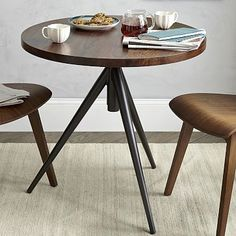 Round Adjustable Bistro Table #westelm - midcentury office/ industrial office