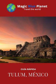 ¿Has estado alguna vez en Tulum? La pequeña ciudad en la Riviera Maya es conocida en todo el mundo por sus famosas ruinas mayas y sus playas paradisíacas. La arena blanca en las playas y el mar cristalino de color turquesa en la región hacen que el corazón de cada turista lata más rápido. La densa selva tropical y el legado de culturas antiguas te inspiran a nuevas aventuras. El pequeño pueblo de pescadores hoy en día se ha convertido en un lugar de moda para los viajeros hambrientos de la… Tulum, Color Turquesa, Riviera Maya, Planets, World, Movies, Movie Posters, Travel, Mayan Ruins