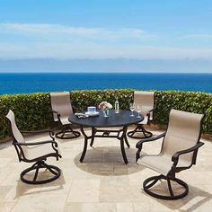 beaumont 5piece sling dining set