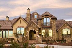 Plan 9544RW: Palatial French Country