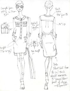 Dress Design sketch for NY&CO Spring 2013 By Renaldo Barnette