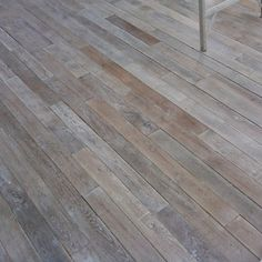 """Antique Reclaimed French White Oak flooring - Shown in standard limed and waxed finish; apx. 4"""" wide x random length planks; also available in a 16"""" long Chevron pattern."""
