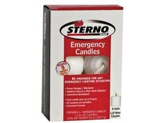 Camping Candles - 6 6 packs Sterno  20403 15 9 Hour Burn Time Emergency Candles * Check out the image by visiting the link.