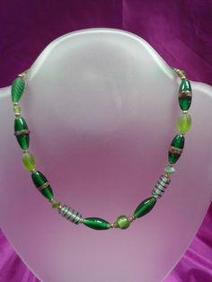 shop online at www.erikasfashionandbridal.com green spiral bead necklace €20
