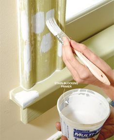 How to paint trim li
