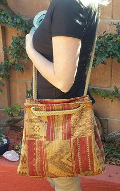 9b29ff37f6 Tote shoulder bag hobo hippie upcycled handmade repurposed crossbody purse  misspittypots chenile mes