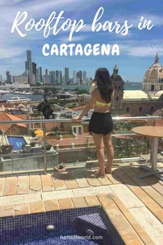 5 rooftop bars in Cartagena, which you can go to for free! No day rates- all you need to buy, is a drink - and then you can soak in the dreamy view. Columbia South America, South America Map, Latin America, America City, Central America, Trip To Colombia, Colombia Travel, Peru Travel, Asia Travel