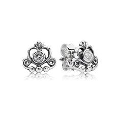 Pandora Earrings - My Princess Cubic Zirconia ($35) ❤ liked on Polyvore featuring jewelry, earrings, silver, sparkle jewelry, pandora jewellery, cz earrings, pandora earrings and pandora jewelry