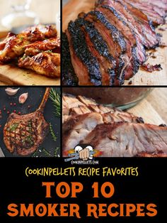 Best Smoker Recipes. You'll want to get these delicious recipes on your pellet grill ASAP! Smoking meat, chicken, and even appetizers is the ultimate way to give great BBQ flavor to your favorite foods while making perfectly juicy and tender foods. Wondering how to smoke brisket or the best smoker recipe for chicken wings? They're all right here and more! #BBQ #smokerrecipe #pelletgriling Smoker Grill Recipes, Grilling Recipes, Meat Recipes, Delicious Recipes, Grilling Tips, Smoked Wings, Best Smoker, Good Food, Yummy Food