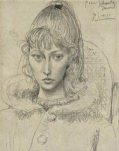 Picasso's portrait of Sylvette Davis, 1954
