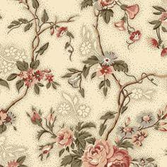 Quilting Treasures Antiquities Ashford Floral Vine Ecru