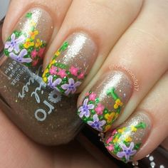 Pretty nail designs 2014 | Pretty nail designs for summer | Pretty nail designs to do yourself | Funky french manicure ideas ....... | See more nail designs at http://www.nailsss.com/...