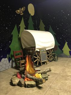 2017 VBS Trailblazers for the Faith Elgin Church of Christ Wild West Theme, Wild West Party, Rodeo Party, Cowboy Party, Vbs Themes, Western Decor, Western Theme Decorations, Cowboy Theme, Covered Wagon