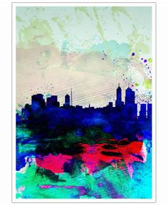 Melbourne Watercolor Skyline 2 of Naxart now on JUNIQE!