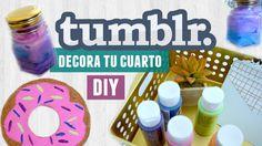 Decora tu cuarto estilo TUMBLR / DIY fácil y económico | Karen Rios
