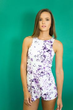 Isabelle Violet Skort Romper — Women's Clothing - Westwood Boutique - MODLOOK 29