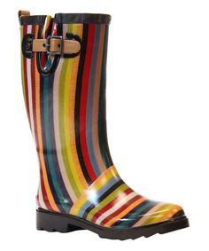 Look what I found on #zulily! Inlaid Stripe  Rain Boot #zulilyfinds