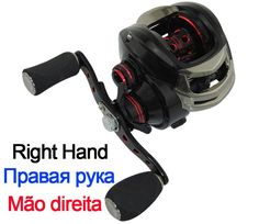 Right or Left Baitcasting Reel 12BBs 7.0:1 Magnetic and Centrifugal Dual Brake