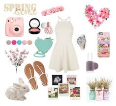 """Spring Has Sprung"" by cupcakes-fave-fashion ❤ liked on Polyvore featuring Topshop, Aéropostale, Christopher Kane, MAC Cosmetics, Nails Inc., Casetify, Essie, Bellezza, Polaroid and Band of Outsiders"