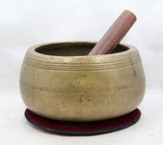 Antique Rare Mani Style Heavy Tibetan Singing Bowl - Collector