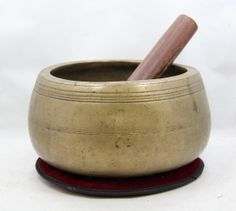 Antique Rare Mani Style Heavy Tibetan Singing Bowl - Collector