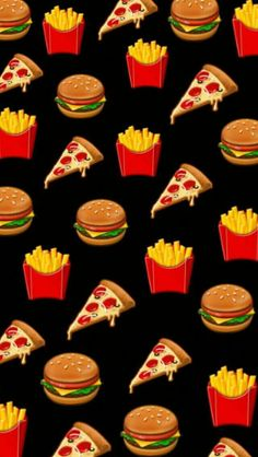 Pizzas, burgers and fries patterns em 2019 милые обои, обои Emoji Wallpaper Iphone, Cute Emoji Wallpaper, Homescreen Wallpaper, Iphone Background Wallpaper, Cute Cartoon Wallpapers, Pretty Wallpapers, Aesthetic Iphone Wallpaper, Disney Wallpaper, Iphone Backgrounds