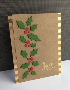 Simple Christmas Cards, Christmas Card Crafts, Homemade Christmas Cards, Christmas Art, Christmas Greetings, Homemade Cards, Holiday Cards, Christmas Card Designs, Cricut Christmas Cards