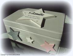 Kisten & Boxen - ♥♥♥ ERINNERUNGSKISTE mit Sternen, Sterne ♥♥♥ - ein Designerstück von Alexandra-Sangs bei DaWanda