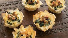 Taartjes met spinazie en walnoten | VTM Koken