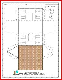 House net, printable net for a house