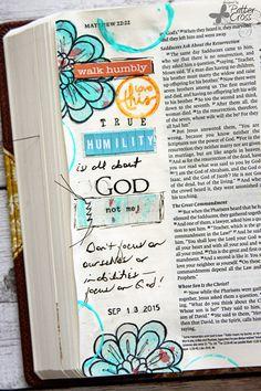 Triple the Scraps: {Glory Art} Scripture Challenge #16, Humility