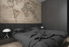Dark Grey, White & Wood Tone Decor With Personal Flair