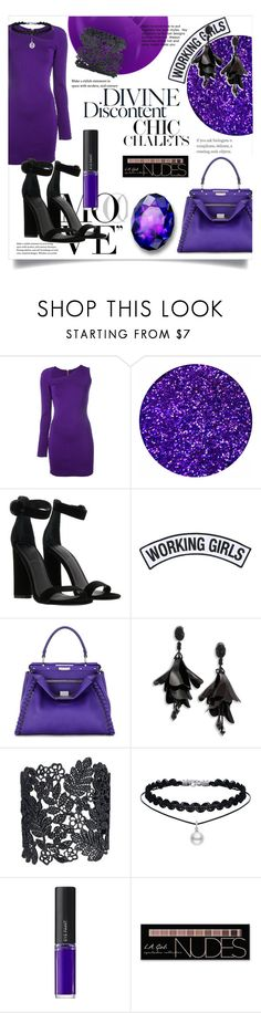 """Dark and Divine"" by lauren53103 ❤ liked on Polyvore featuring Balmain, Kendall + Kylie, Working Girls, Fendi, Oscar de la Renta, L'Oréal Paris and Charlotte Russe"