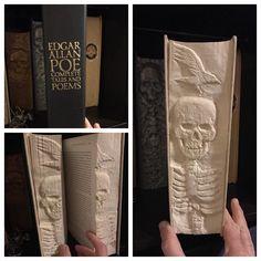 This book of poems by Edgar Allan Poe Edgar Allen Poe, Edgar Allan, Cow Skull, Skull Art, Allan Poe Libros, Iowa, Miguel Diaz, Book Of Poems, One Word Art