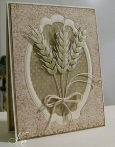 I am mailing this overseas so I kept it light. The wheat are on pop dots with a second layer of the grass glued on and a touch of green colored on. The die is Impression Obsession Wheat Making Greeting Cards, Greeting Cards Handmade, Scrapbook Paper Crafts, Diy Scrapbook, Card Making Inspiration, Making Ideas, Impression Obsession Cards, Thanksgiving Cards, Halloween Cards