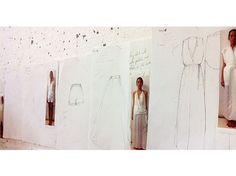 Sketches from the studios! #eine #einestudios #einewomen #loungewear #luxury #creamskirt #cream #ladieswear #ladiesfashion #sketching #skirt #shirts #gown #creamclothing #creamclothes