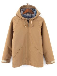 Mollusk Parka in Tan. Made in California and on sale for $150
